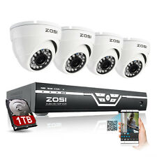 ZOSI 8CH 1080N HDMI DVR 1500TVL Outdoor IR CCTV Home Security Camera System 1TB