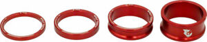 Wolf Tooth Headset Spacer Kit 3, 5,10, 15mm, Red