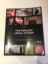 The English Legal System by Alisdair Gillespie 5th edition 2015 paperback