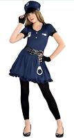 Children's Cop Costume Girls Police Officer Uniform  Age 12-14 Years