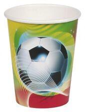 Fußball Soccer Partybecher Party Becher Pappbecher 8 Stück 266ml