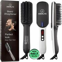 (UPGRADED) Aberlite MAX - Beard Straightener For Men - Beard Straightening Heat