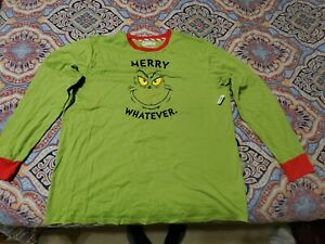 The Grinch Men's Christmas Pajamas XL (Top Only)