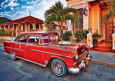 New Trefl Chevrolet Bel Air Oldtimer 1000 Piece Jigsaw Puzzle Cars Automobiles