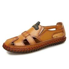 Men's Leather Strap Fisherman Sandals Closed Toe Summer Beach US ALL Size New