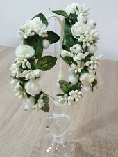 1Handmade Wedding Prom First Communion Special Occasion Ivory Flowers Hair Band