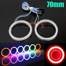2x 70mm Cob Car Angel Eye Halo Ring Led Light White/Red/Blue/Green/Yellow/Purple