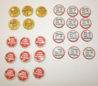 VTG Pinback Buttons American Lung Association No Smoking Hurts Work Lot 26 Pins