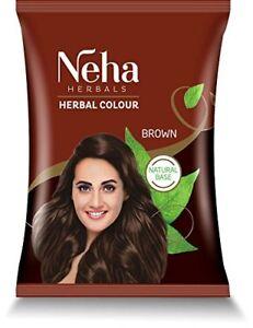 NEHA HERBAL COLOUR BROWN 20G (Pack of 5) ORIGINAL FS