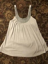 Forever 21 xxi Small Gray Beaded Tank Top