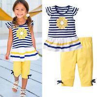 Flower Kids Baby Girls Outfits Clothes T-shirt Tops+Short Pants Shorts 2PCS Set