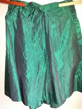 Recollections Victorian Style Skirt 4X 30-32 Green Taffeta Steampunk Cosplay