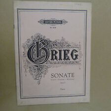 piano GRIEG Sonate E minor Op 7, Peters 2278