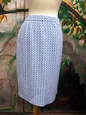 St. John Knit NWT Azul Bright White SKIRT SZ 6 8 $395