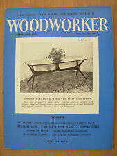 VINTAGE WOODWORKER MAGAZINE FEBRUARY 1961 OCCASIONAL TABLE  - BOAT BUILDING