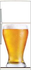 Sticker frigo électroménager déco cuisine Bière 60x90cm Réf 1388