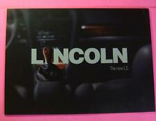 1999 New Lincoln Ls Showroom Sales Brochure.6 Page Fold-Out