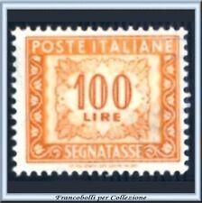 1952 Italia Repubblica L. 100 Segnatasse Ruota n 109 **