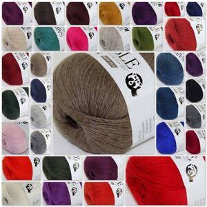 Sale Super Soft Pure Sable Cashmere Wrap Shawls Hand Knit Wool Crochet Yarn 50g
