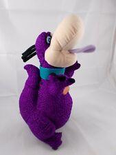 "Mattel DINO Dinosaur Flintstones Plush 13"" 1993 Amblin Universal Studio Purple"