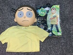 Rick and Morty smith Halloween Costume for Teen Large 12-14 Mask and Shirt