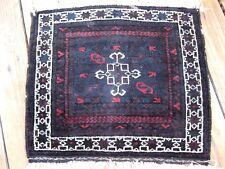 ANTIQUE 1900 BALUCH  BAG FACE  EXCELLENT  SILKY WOOL