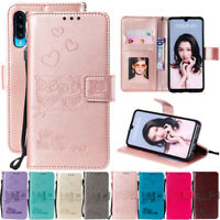 For Huawei P30 Pro P20 P10 Couple Owl Leather Flip Stand Card Wallet Case Cover