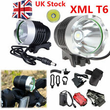 15000Lm CREE XML T6 LED Bicycle Bike Head Light Headlamp Rechargeable Lamp Flash