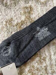Brooks Brothers GOLDEN FLEECE Gray CREW Dress SOCKS