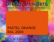 RAL 2004 PASTEL ORANGE GLOSS matt satin Powder Coat Refurbishment Coating