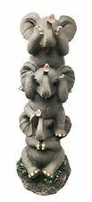 Pachyderm Friends Funny See Hear Speak No Evil Elephants Figurine Decor Safari