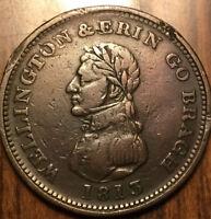 1813 DUBLIN WELLINGTON ONE PENNY COLONIAL TOKEN Bowman 6 - Rim nicks