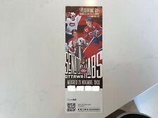 Unused Montreal Canadians tickets temple de la renommée Ottawa nov 20