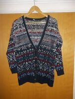 Women's Patterned Cardigan From Urban Outfitters (Sparkle And Fade) Size XS