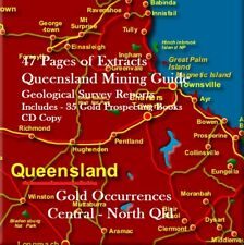 GOLD MINING & PROSPECTING REPORTS CENTRAL/NORTH QLD + 35 Bonus Books & Maps