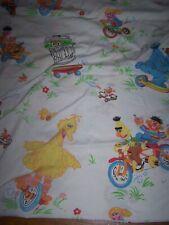 Vintage Sesame Street Twin Flat Sheet WHEELS!