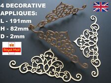 4 FURNITURE APPLIQUES SHABBY CHIC WOODEN DECORATIVE FURNITURE  MOULDING MIRROR
