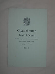 Glyndebourne Festival Opera 1960 Programme Schedule Gui Beecham Joan Sutherland