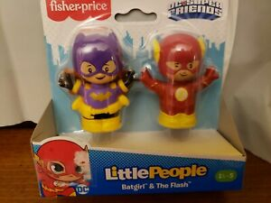 Fisher Price Little People DC Super Friends The  Flash & Batgirl