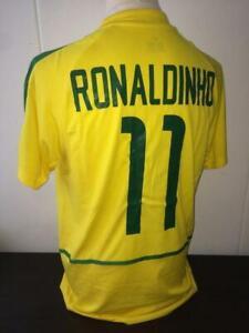 Ronaldinho #11 - Brazil World Cup 2002 Football Jersey