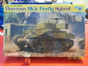 "Not complete has PHOTOETCH 1/35 "" SHERMAN FIREFLY HYBRID "" WW2 Tank Dragon 6325"