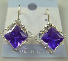 hot charm 1Pair Stylish Fashion silver Plated Czech Crystal Pierced Earrings Pu7