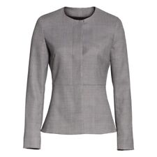MaxMara Women's Giochi Basketweave Jacquard Blazer Jacket Black MSRP: $1,165