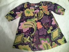 LOVELY GIRLS NAVY BLUE BOLD FLORAL PRINT NEXT TOP AGE 8 YEARS
