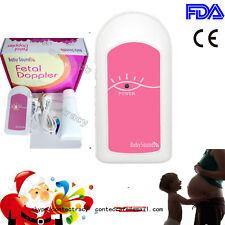 BabySound Fetal doppler Baby Prenatal Heart Monitor with earphone,Gel,pink,Fda