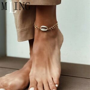 Vintage Gold Charm Bohemian Summer Beach Shell Anklet  For Women Fashion