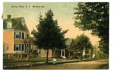 Spring Valley Ny - Houses On Madison Avenue - Postcard