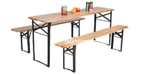 Wooden Folding Picnic Table Bench Large - 3 Pieces