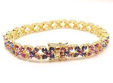 Joan Rivers Pink Lavender Crystal Rhinestone Tennis Bracelet Signed QVC Retired