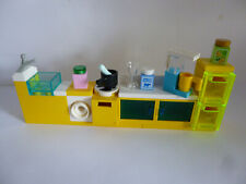 1 x LEGO® Küche,Küchenblock neu&gebraucht mit viel Zubehör gelb wie Abbildung..